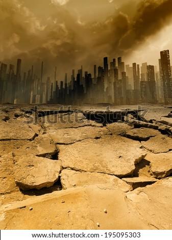 Earthquake - stock photo