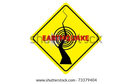 earthquake warning Symbol - stock photo