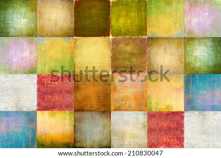 Earthy geometric background image and design element - stock photo