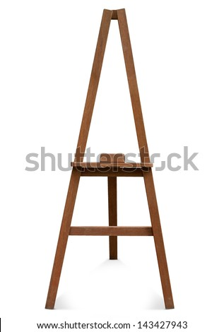 easel isolated on a white background. - stock photo