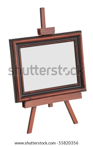 Easel isolated on white background - stock photo