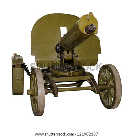 Easel machine gun, Maxim's system of the sample of 1910 - stock photo