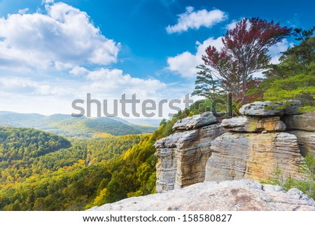 East Pinnacle Lookout - stock photo