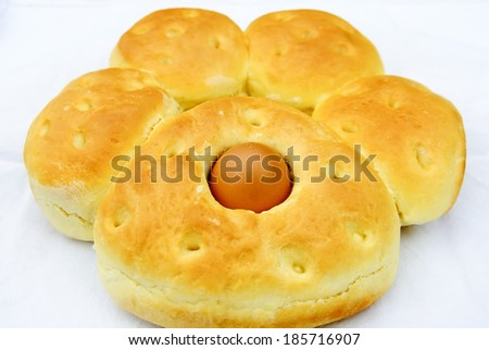 Easter bread   - stock photo