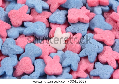 Easter bunny-shaped sprinkles - stock photo