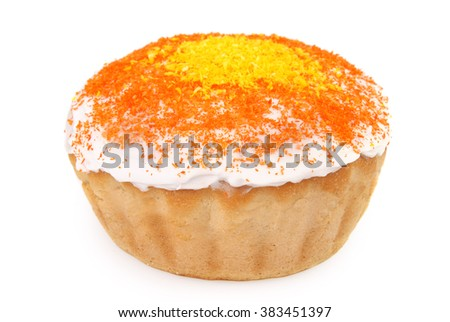 Easter Cake isolated on white - stock photo