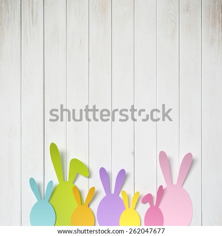 Easter card with ester bunny - stock photo