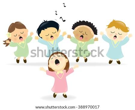 Easter Choir singing - Jpeg - stock photo