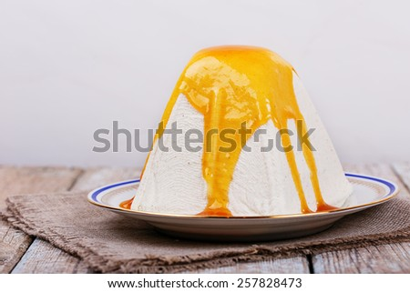 Easter cottage cheese dessert (traditional Orthodox Easter dishes) - stock photo