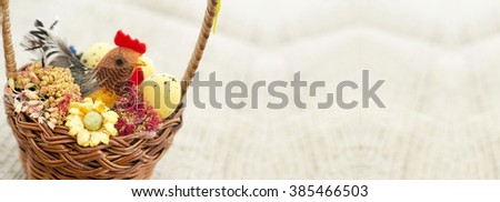Easter decoration banner with copy space   - stock photo