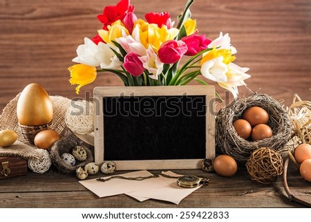 Easter, decoration, retro. - stock photo