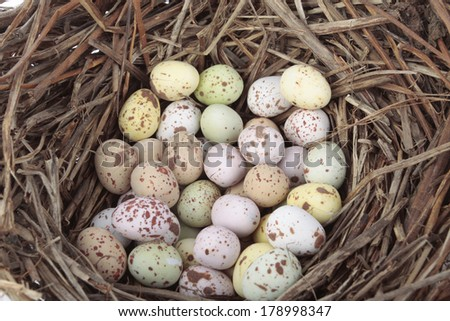 Easter  decorations with eggs - stock photo