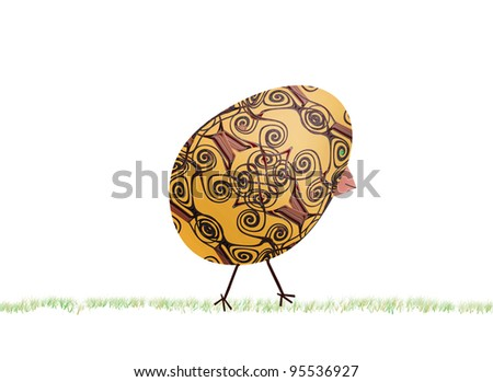 Easter egg/chicken motive. - stock photo