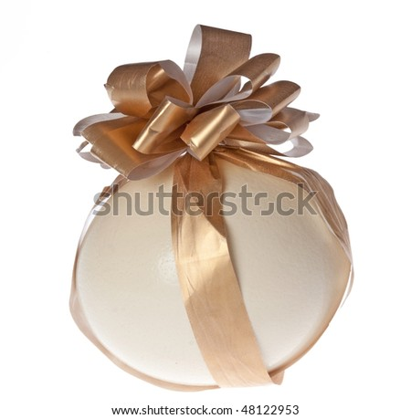 Easter egg with ribbon - stock photo