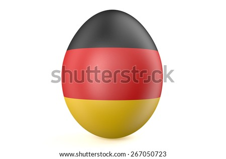Easter egg with the flag of the Germany isolated on white background - stock photo