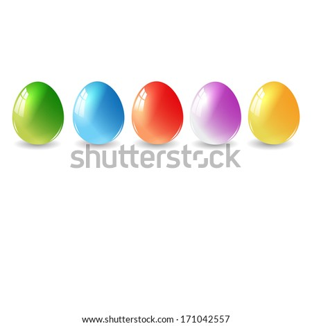 Easter eggs background with elegant. For vector version, see my portfolio.  - stock photo