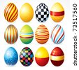Easter eggs, Happy Easter Clip Art (version eps please see at my gallery) - stock photo