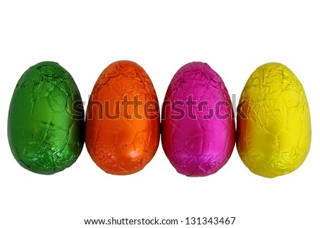 Easter Eggs Isolated 2 - stock photo