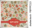 Easter Eggs -  old postcard in vintage style - JPEG version - stock photo