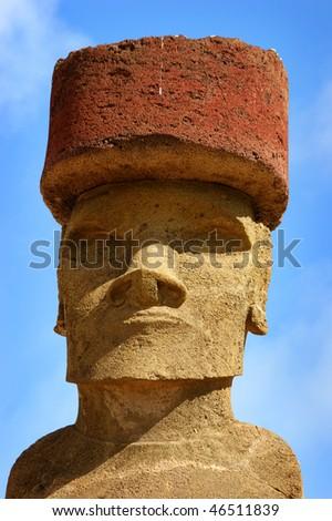 easter island moai - stock photo