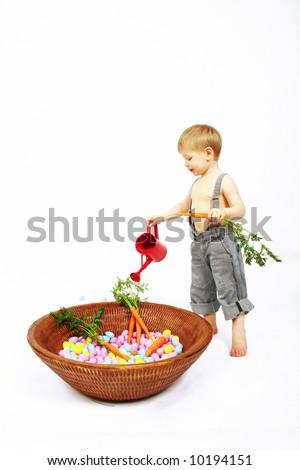 Easter preparation - stock photo