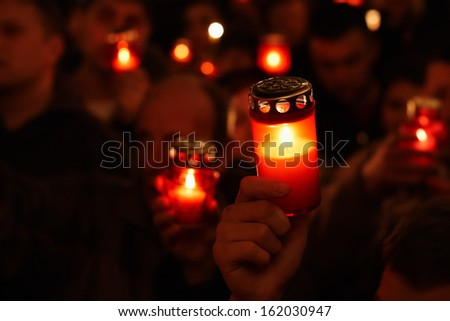 Easter religious ceremony candle lights - stock photo