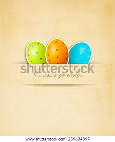 Easter retro background with eggs.  - stock photo