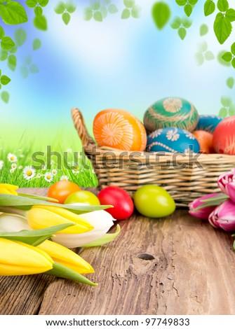 Easter still life - stock photo