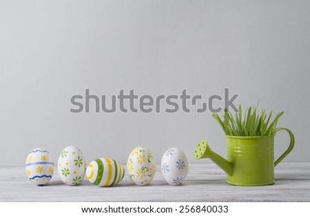 Easter still life with  eggs  - stock photo