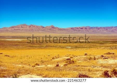 Eastern Nevada Rural Landscape. Nevada Backcountry Summer Scenery. - stock photo