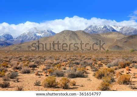 Eastern Sierra mountain landscape in California - stock photo