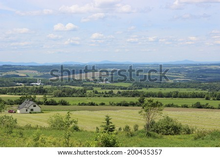 Eastern Township Landscape, Quebec, Canada - stock photo