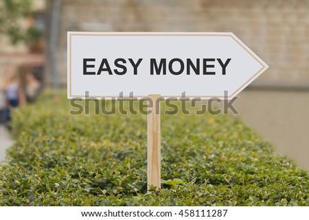 easy money signpost - stock photo