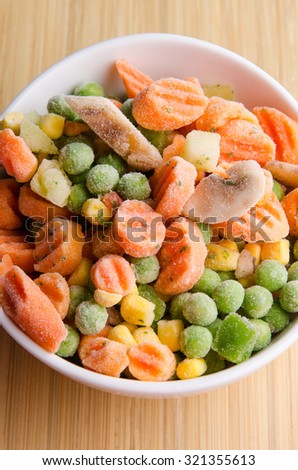 Easy to prepare healthy frozen vegetables. - stock photo