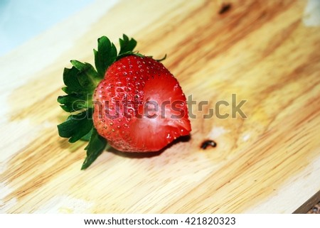 Eat strawberry - stock photo