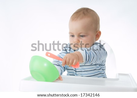 eating baby - stock photo