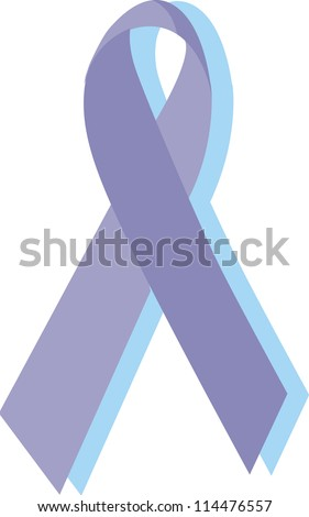 Eating disorders ribbon, purple - stock photo