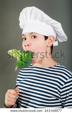 Eating seacook - stock photo