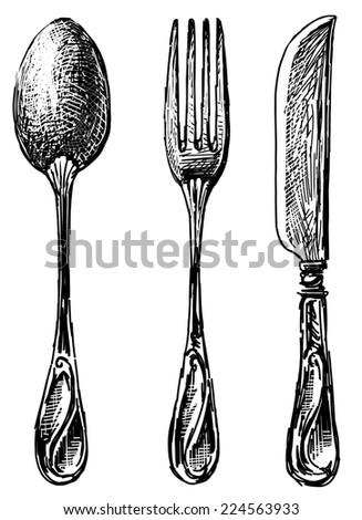 eating utensil - stock photo