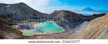 Ebeko  Volcano, Paramushir Island, Kuril Islands, Russia  - stock photo