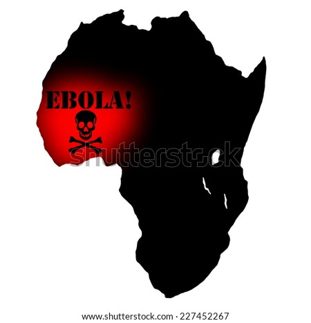 Ebola african virus disease and fever - stock photo