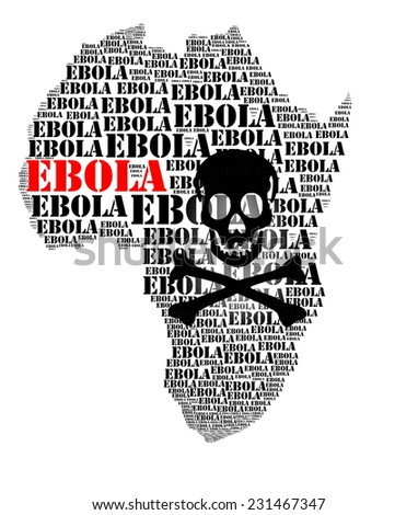 Ebola african virus disease and  hemorrhage fever - stock photo