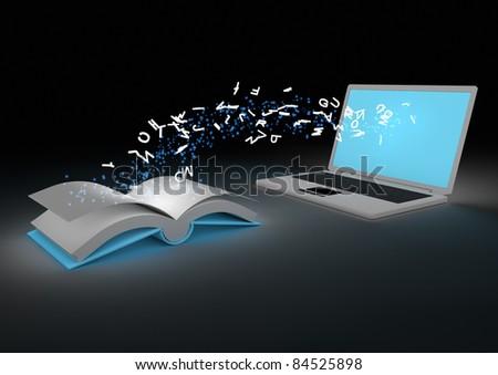 Ebook concept - stock photo