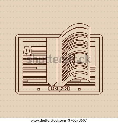 Ebook icon design  - stock photo