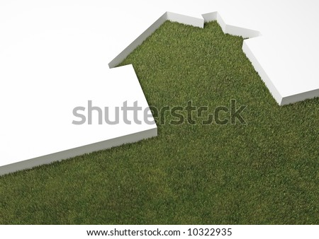 echo house metaphor - stock photo