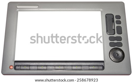 Echo Sounder Isolated with Clipping Path - stock photo
