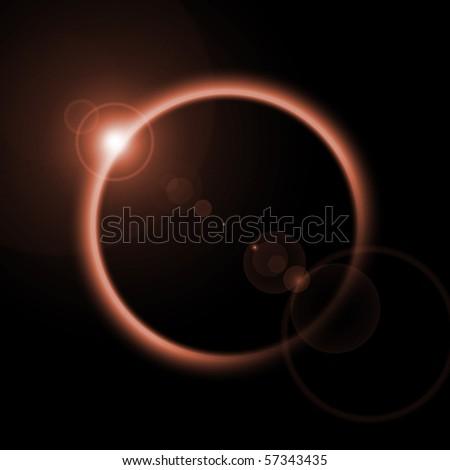 Eclipse Illustration - stock photo