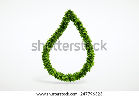 Eco blank water drop symbol - for your own text - stock photo