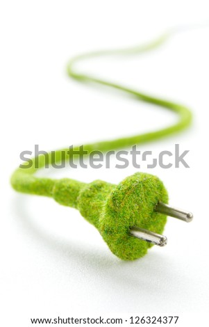 eco electric plug , energy concept - stock photo