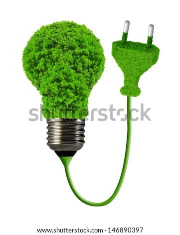 eco energy bulb isolated on white  - stock photo